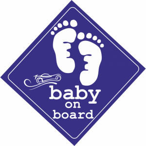 Baby On Board Feet Μπλε