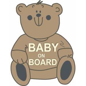 Baby On Board Bear Μπεζ