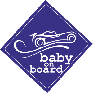 Baby On Board Car Μπλε