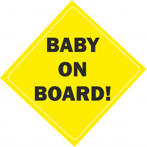 Baby On Board Yellow
