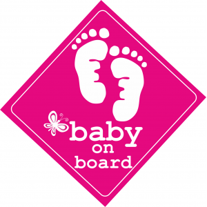 Baby On Board Feet Ροζ
