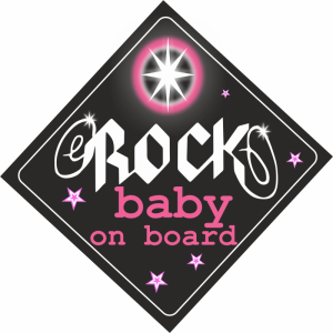 Baby On Board Rock Ροζ