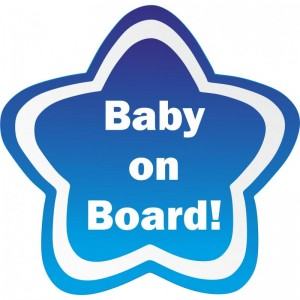 Star Baby On Board Γαλάζιο