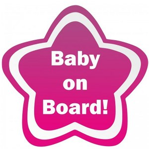 Star Baby On Board Ροζ