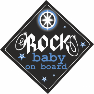 Baby On Board Rock Γαλάζιο